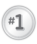 Number one badge