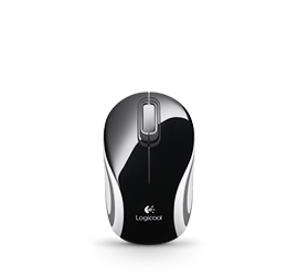 Wireless Mini Mouse M187 Multi Glamour Image MD LC - Black&White&Red