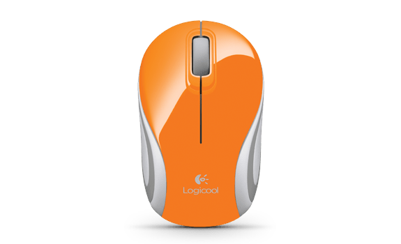Wireless Mini Mouse M187 Orange Gallery LC 8