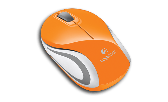 Wireless Mini Mouse M187 Orange Gallery LC 10