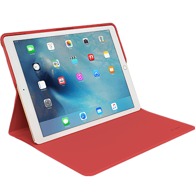 CREATE Protective Case red color with iPad Pro, front view