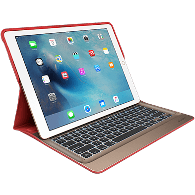 CREATE Backlit Keyboard with Smart Connector for iPad Pro, red color front view