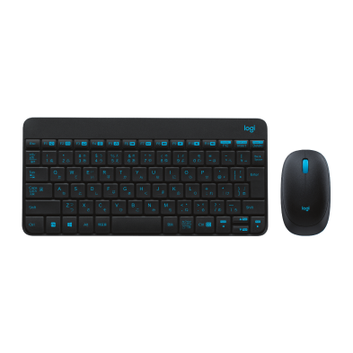 Mk240 Keyboard and Mouse in Black with Blue accents