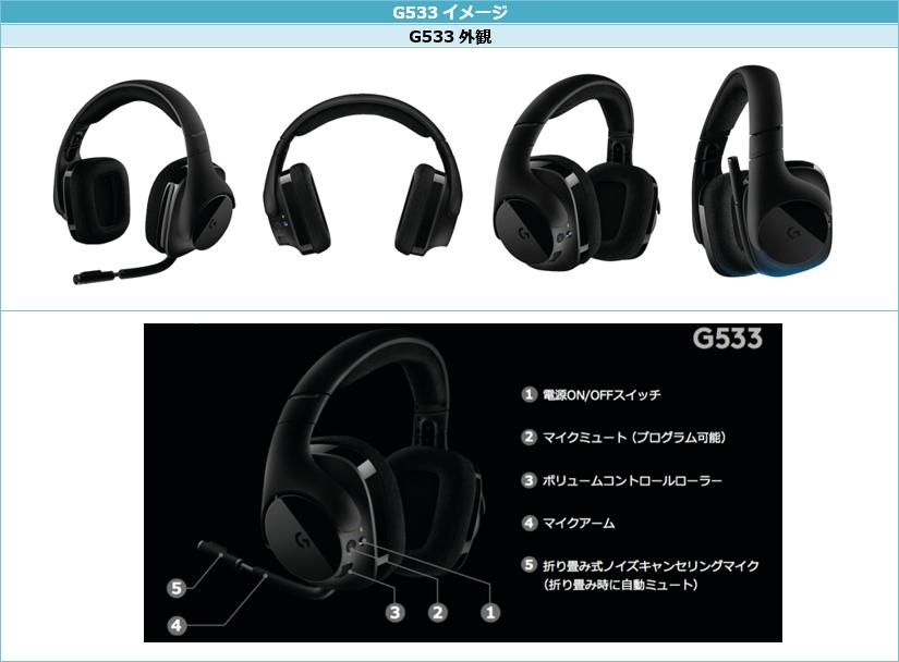 ロジクールG「G533 ワイヤレス DTS 7.1 サラウンド ゲーミング ヘッドセット」が 『ファイナルファンタジーXIV』『フィギュアヘッズ』推奨周辺機器に認定!